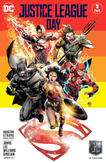 Justice League Day Houston Strong special edition variant cover